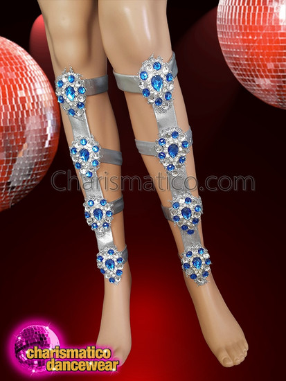 CHARISMATICO  Highlight Leg Movements With Silver And Blue Legguards