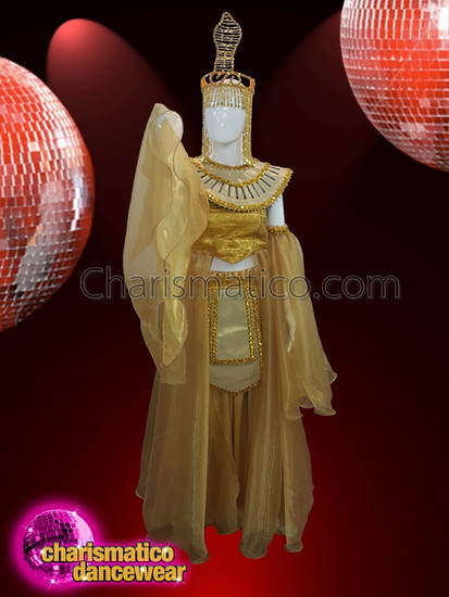 CHARISMATICO  Royal Looking Golden Gown And Splendid Headdress For Show