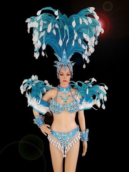 ccf9dd98d2f8 CHARISMATICO A stunning blue costume with dramatically gorgeous ...