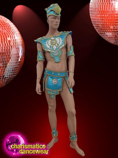 0cb8f97ab CHARISMATICO Men blue Brazilian costume for samba dancers with ...