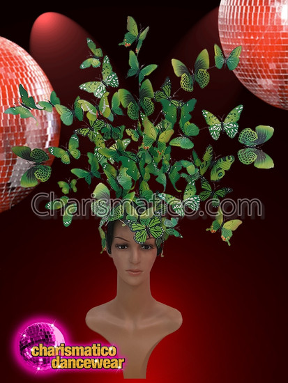 CHARISMATICO  Green Butterflies Gorgeous Headdress