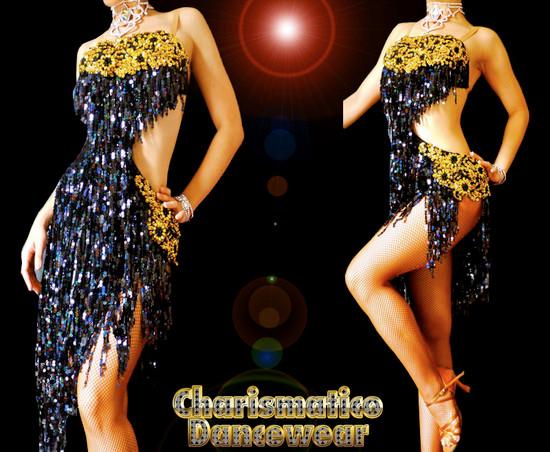 salsa Fringe Dance Dress