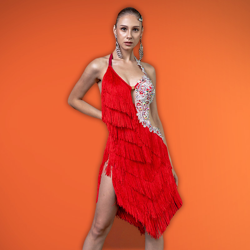 Fringe Latin Dress