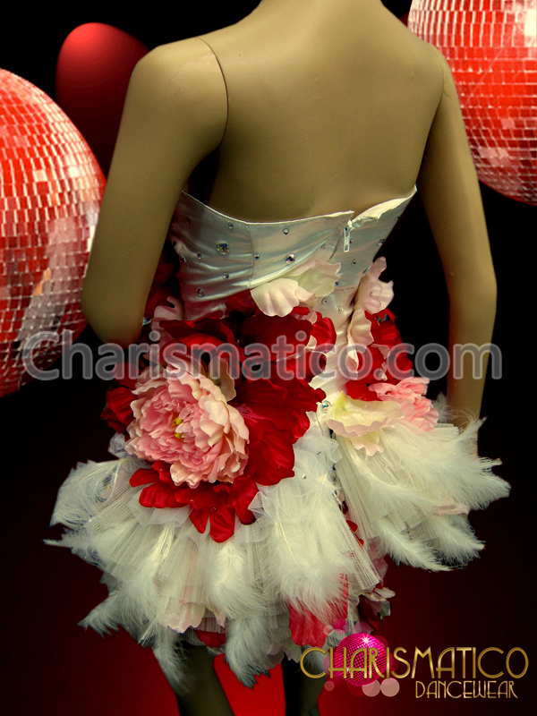 Red and White Feather Dress