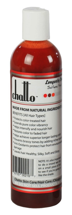 Longevity Auburn Red Enhancement Organic Color Shampoo