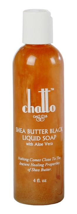 Shea Butter Black Liquid Soap with Aloe Vera, 4fl.oz