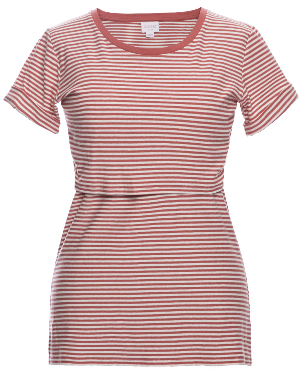 9a63d0eea66 Boob EVA striped Tee - faded rose - Stockholm Objects