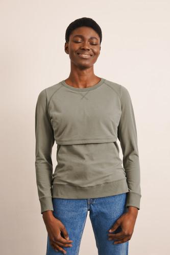 Boob Design B Warmer Sweatshirt - Sage