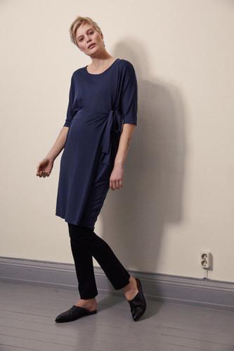 Boob Design Wonton Dress - Navy