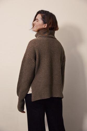 Boob Design Frida Knit Sweater - Brown Melange