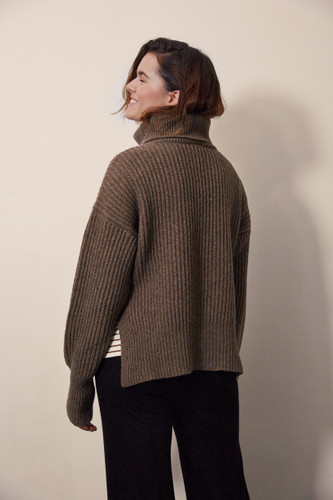 Boob Design Frida Knit Sweater - Brown Melange