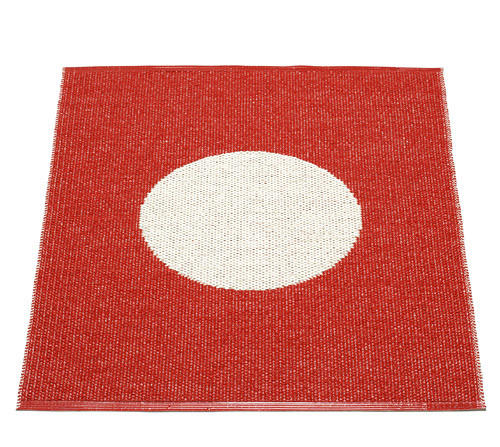 Pappelina Vera Small One Rug Red/Vanilla