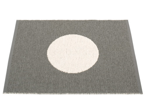 Pappelina Vera Small One Rug Charcoal/Vanilla