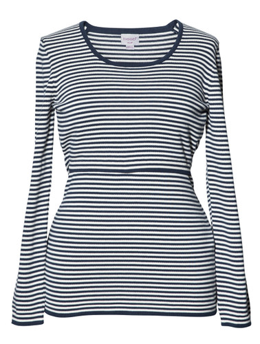 Boob Knitted Maternity/Nursing Jumper - Stripe Blue