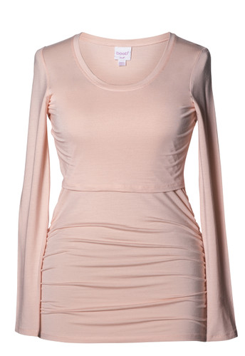 Boob Long Sleeve Maternity/Nursing Top Ruched - Pale Blush