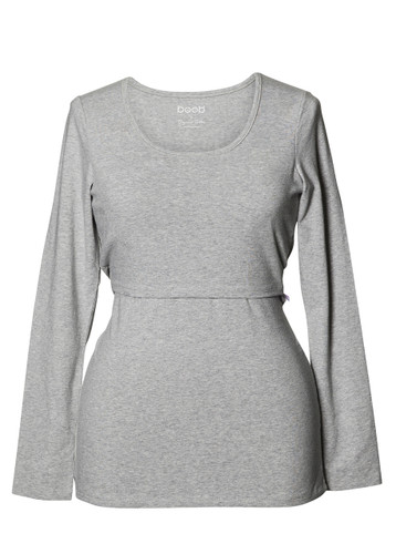 Classic Top Long Sleeve  - color grey melange