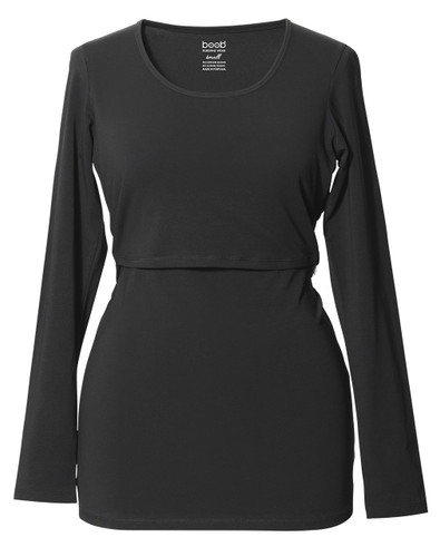 Classic Top Long Sleeve  - color black
