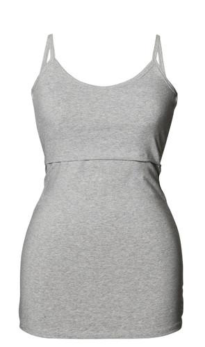 Boob Design Maternity/Nursing Strap Singlet - Grey Melange