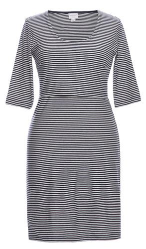 Boob EVA striped Dress - tofu/soft ink
