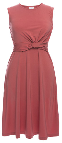 Boob Twist Dress - faded rose