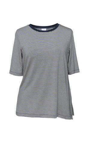 Boob The Shirt - striped tofu/midnight blue