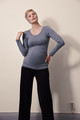 Boob Design Flatter Me Top L/S - Smoke