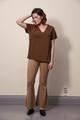 Boob Design The-Shirt V-Neck - Cinnamon