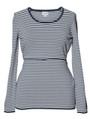 Boob Knitted Maternity/Nursing Jumper - Stripe Blue