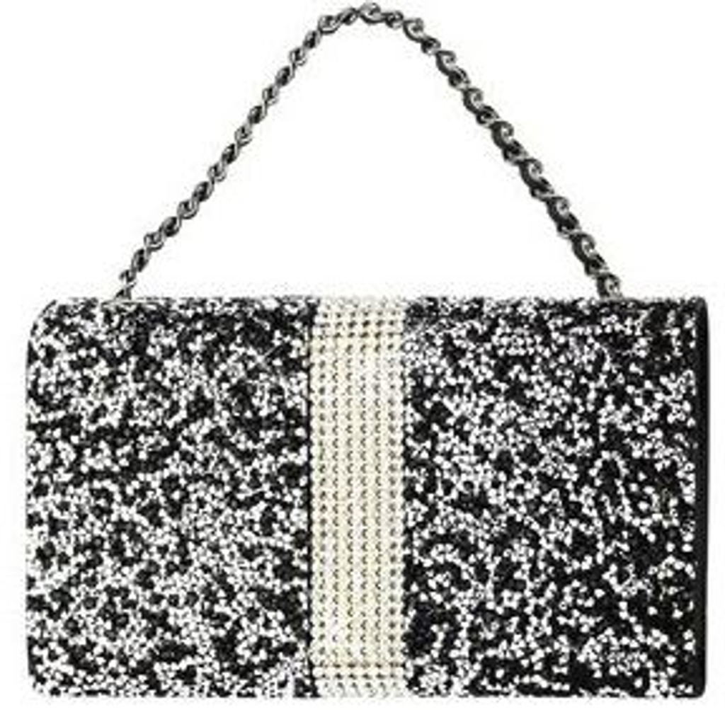 Universal Reiko Horizontal Bling Diamonds Pouch 5.5 In Black
