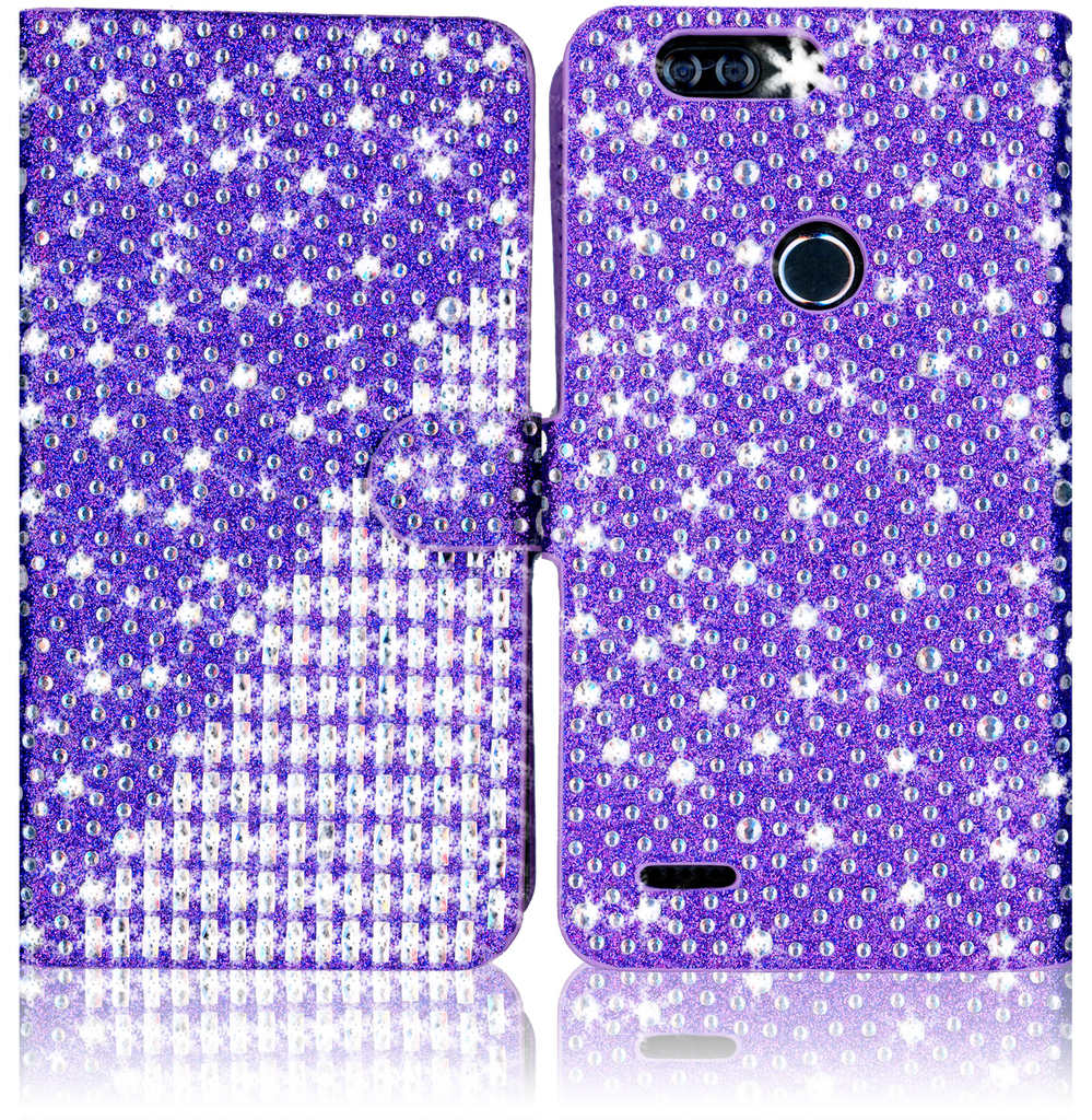 Zte Z982/Blade MM Jewel Diagonal Wallet Purple