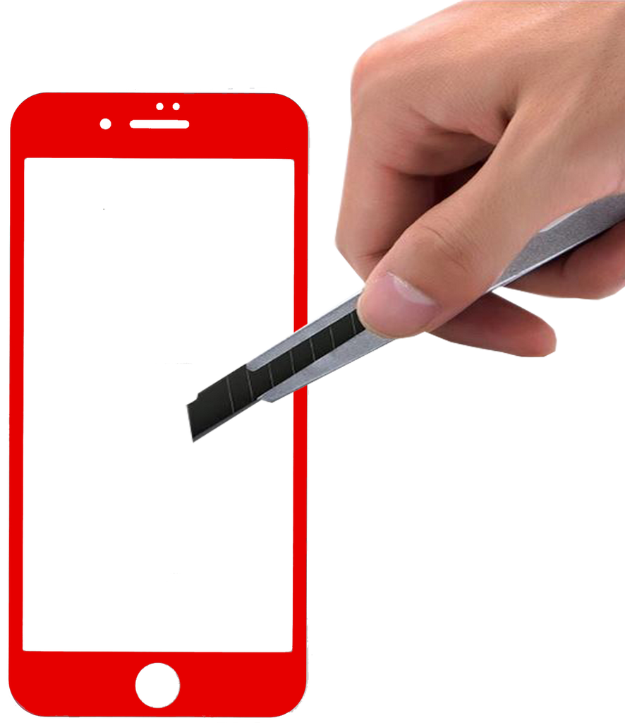 Iphone 7/8 5D Tempered Glass  Red