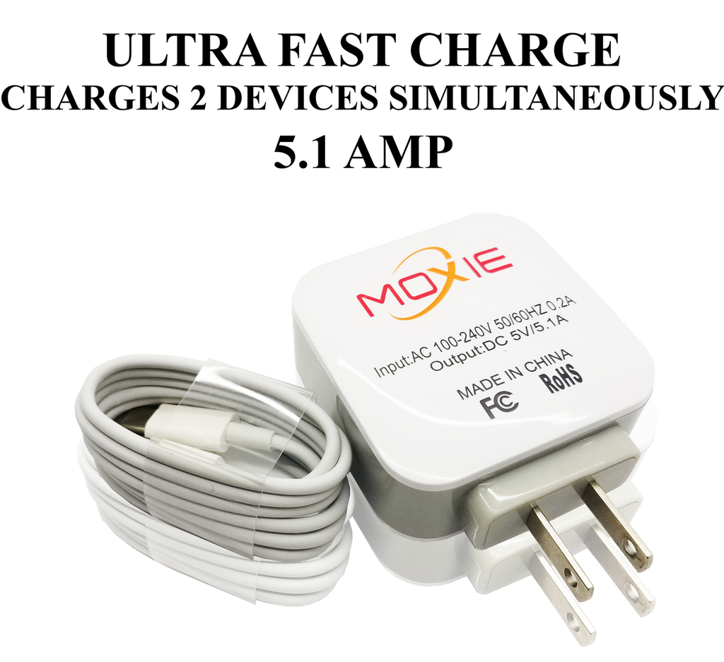 Moxie  Ultra Fast Travel Charger 5.1 AMP