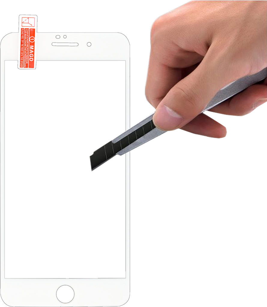 iPhone 8/7  3D Full Covered  Tempered Glass White
