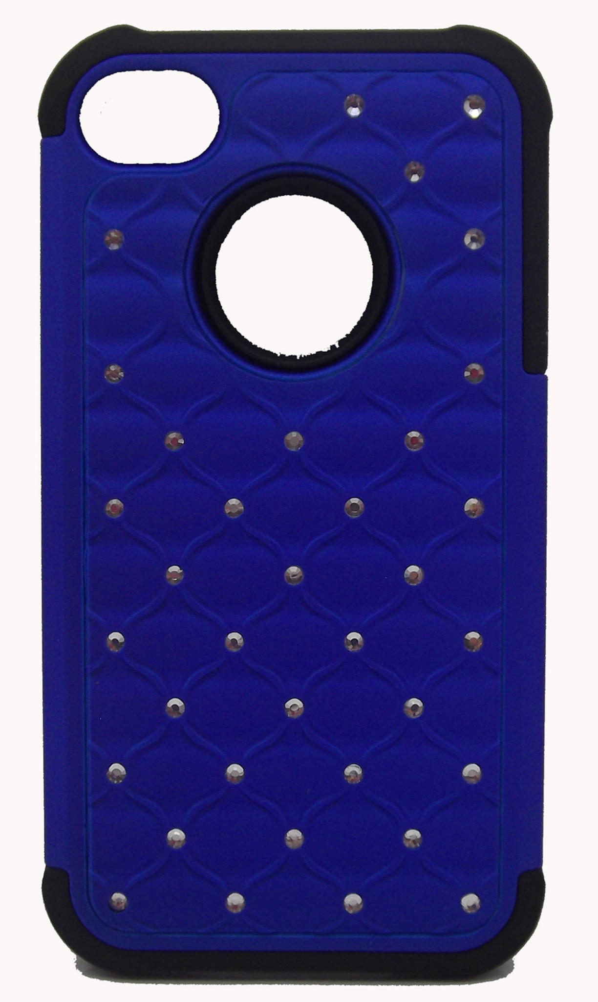 size 40 c2425 046bc Iphone 4/4s Dual Bling Case Blue & Black - WORLD CELLULAR