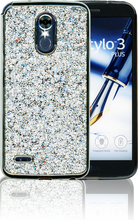 LG Stylo 3 MM Candy Bling Case Silver