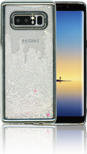 Samsung Galaxy Note 8 MM Electroplated Water Glitter Case With Stars Silver