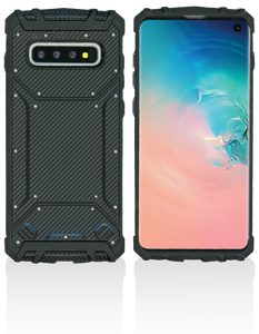 Samsung Galaxy S10 MM Magnetic Rugged Case Carbon Fiber