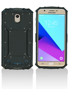 Samsung J7 Star MM Magnetic Rugged Case Carbon Fiber