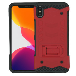 IPHONE XS MAX MM Opal Kickstand Case Red (Tempered Glass Included)
