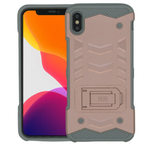 IPHONE XS MAX MM Opal Kickstand Case Rose Gold (Tempered Glass Included)
