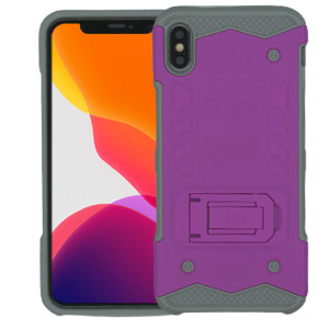 IPHONE XS MAX MM Opal Kickstand Case Purple(Tempered Glass Included)