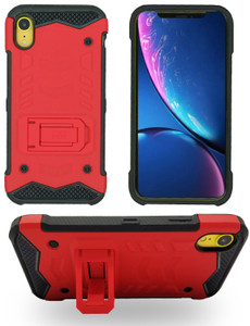 iPhone XR MM Opal Kickstand Case Red (Tempered Glass Included)