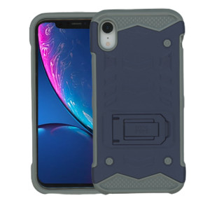 iPhone XR MM Opal Kickstand Case Navy (Tempered Glass Included)