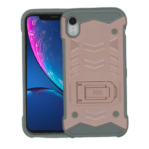 iPhone XR MM Opal Kickstand Case Rose Gold (Tempered Glass Included)
