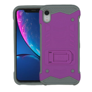 IP XR MM Opal Kickstand Purple (Tempered Glass Included)