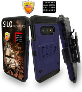 Samsung Galaxy S10 Plus MM Silo Rugged Case Navy