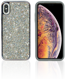 IPHONE XS Max MM Electroplated Full Bling Hybrid Black