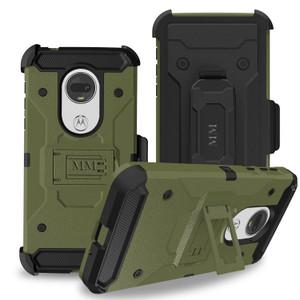 Motorola G7 Power/G7 Supra   MM Silo Rugged Case Army Green