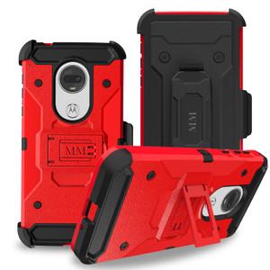 Motorola G7 Power /G7 Supra  MM Silo Rugged Case Red