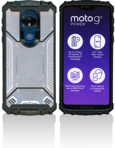 Motorola G7 Power/G7 Supra    MM Magnetic Rugged Case  Silver
